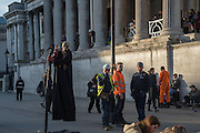 Entertainers, Trafalgar Sq. London. 9 December 2015