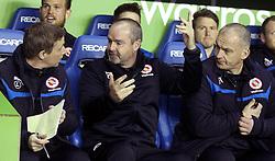 Reading Manager, Steve Clarke with his coaching staff - Photo mandatory by-line: Robbie Stephenson/JMP - Mobile: 07966 386802 - 10/03/2015 - SPORT - Football - Reading - Madejski Stadium - Reading v Brighton - Sky Bet Championship