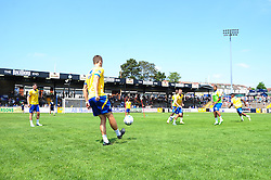 Training session at the fun day with Bristol Rovers' Tom Parkes putting his thumbs up for the camera - Photo mandatory by-line: Dougie Allward/JMP - Tel: Mobile: 07966 386802 21/07/2013 - SPORT - FOOTBALL - Bristol -  Bristol Rovers Fun Day
