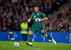 MILTON KEYNES, ENGLAND - Wednesday, September 25, 2019: MK Dons' goalkeeper Stuart Moore during the Football League Cup 3rd Round match between MK Dons FC and Liverpool FC at Stadium MK. (Pic by David Rawcliffe/Propaganda)