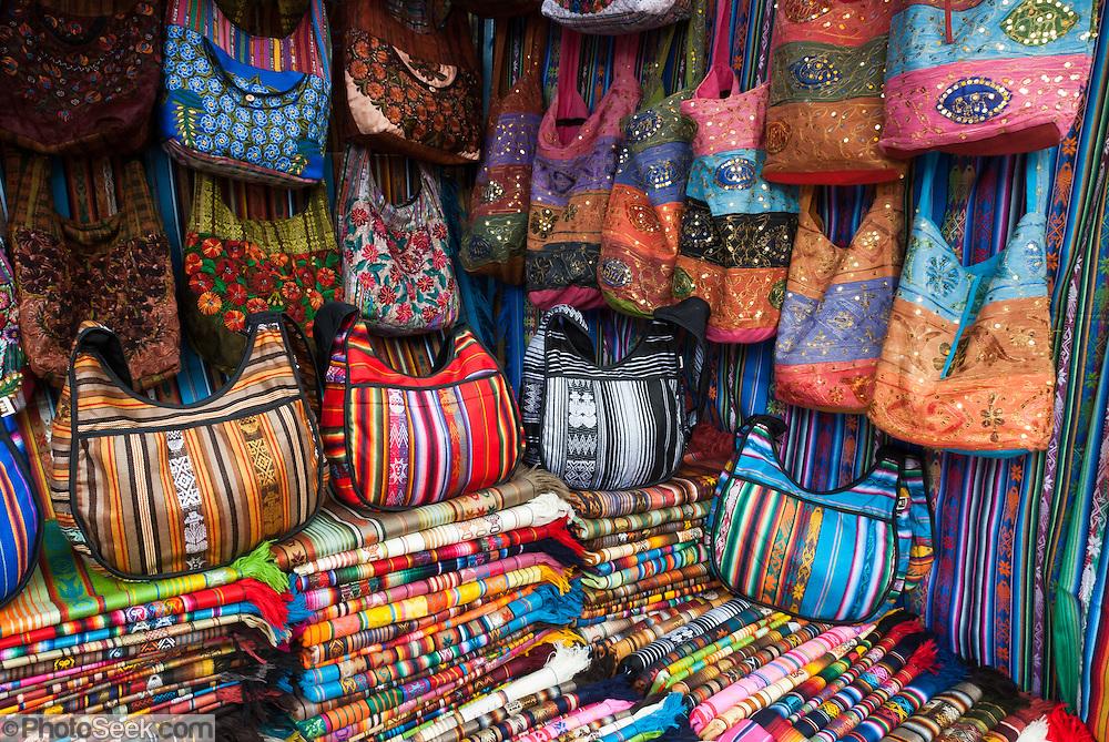 Hand Bags And Fabric For Sale Otavalo Ecuador South