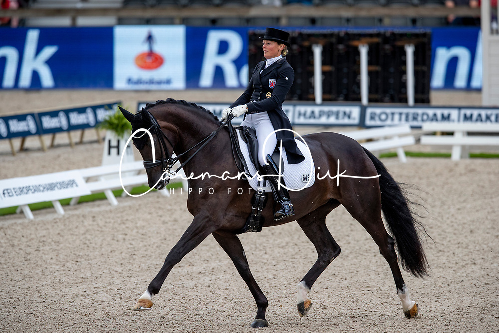 Skarsoe Fie Christine, LUX, So Dark<br /> European Championship Dressage<br /> Rotterdam 2019<br /> © Hippo Foto - Dirk Caremans