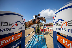 TEBBEL Maurice (GER), DON DIARADO<br /> Münster - Turnier der Sieger 2019<br /> MARKTKAUF - CUP<br /> BEMER-Riders Tour - Qualifier for the rating competition (comp no 11)  - Stechen<br /> CSI4* - Int. Jumping competition with jump-off (1.50 m) - Large Tour<br /> 03. August 2019<br /> © www.sportfotos-lafrentz.de/Stefan Lafrentz