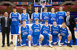 Edo Muric of Slovenia (3rd from R in 2nd row) during the U-18 All Star game at EuroBasket 2009, on September 18, 2009 in Arena Spodek, Katowice, Poland.  (Photo by Vid Ponikvar / Sportida)