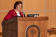 Goshen, New York - Orange County Clerk Annie Rabbitt speaks at a Naturalization ceremony at the county Emergency Services Center on Nov. 17, 2016.
