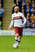 Nicky Law (7) of Bradford City on the attack during the EFL Sky Bet League 1 match between Portsmouth and Bradford City at Fratton Park, Portsmouth, England on 28 October 2017. Photo by Graham Hunt.
