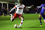 Matthew Olosunde crosses the ball during the The FA Cup match between Solihull Moors and Rotherham United at the Automated Technology Group Stadium, Solihull, United Kingdom on 2 December 2019.