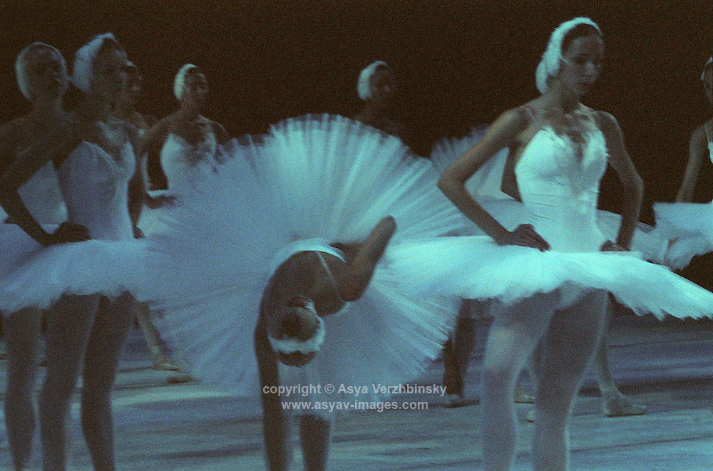 Kirov Ballet rehearsing Swan Lake at Royal Opera House, Covent Garden.