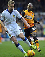 Sone Aluko of Hull City in action during the Sky Bet Championship match at Elland Road, Leeds<br /> Picture by Graham Crowther/Focus Images Ltd +44 7763 140036<br /> 05/12/2015