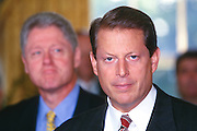 WASHINGTON, DC - September 17: Vice President Al Gore makes a statement at the Oval Office in the White House in Washington, DC. September 17, 1997  (Photo RIchard Ellis)