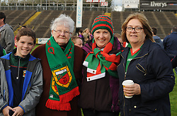 Mayo supporters Cathal, Peggy and Marian Clarke from Ballina and Margaret McLoughlin Knockmore at the team&rsquo;s homcoming in McHale park on sunday evening.<br /> Pic Conor McKeown