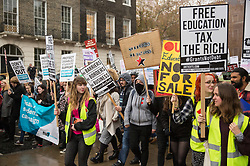 London, UK. 4 November, 2015. Thousands of students attend a National Demonstration for a Free Education. The demonstration was organised by the National Campaign Against Fees and Cuts (NCAFC) in protest against tuition fees and the Government's plans to axe maintenance grants with effect from 2016.