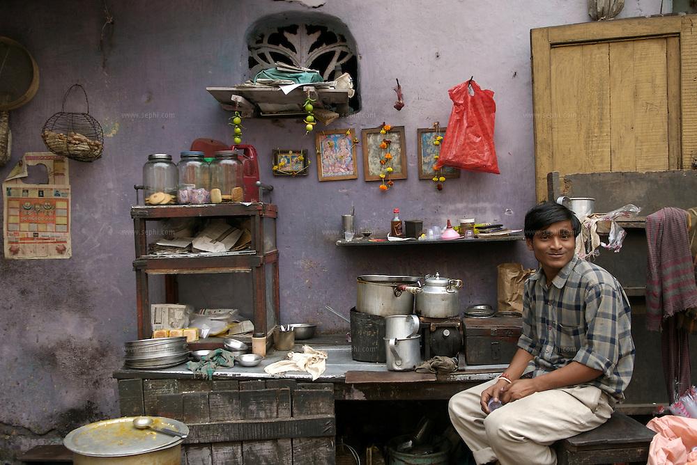 A road side chai stall in Kolkata