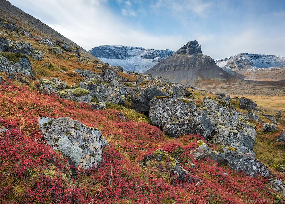 Autumn mood in Keldudalur, Dýrafjörður West fiords of Iceland.