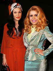 Jessie J and Paloma Faith at the Vivienne Westwood show  at London Fashion Week A/W 2014, Sunday, 16th February 2014. Picture by Stephen Lock / i-Images