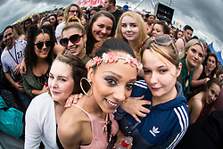 © Licensed to London News Pictures . 12/06/2016 . Manchester , UK . Crowds in front of the main stage at the Parklife music festival at Heaton Park in Manchester . Photo credit : Joel Goodman/LNP