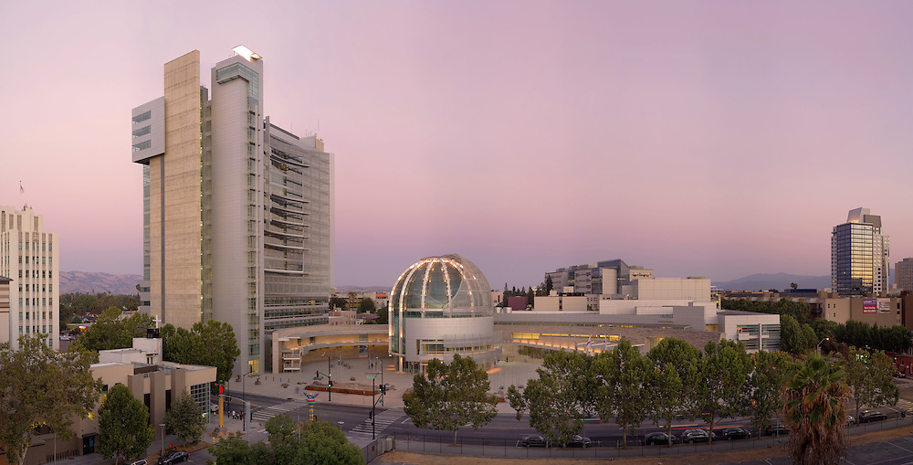 San Jose City Hall at Sunset. (32088 x 16324 pixels)