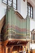 Interior of church of Saint Mary, Halesworth, Suffolk, England, UK organ made by Normand and Beard