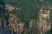 Waterfalls from Cherrapunji Plateau<br /> East Khasi Hils<br /> Meghalaya,  ne India<br /> Wettest place on earth