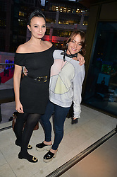Left to right, GIZZI ERSKINE and JAIME WINSTONE at the launch of Broadgate Circle, City of London on 9th June 2015.