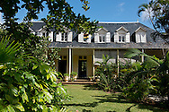 Tropical plans surrounding Eureka House, a preserved colonial style house built in 1830.  Moka, Mauritius, The Indian Ocean