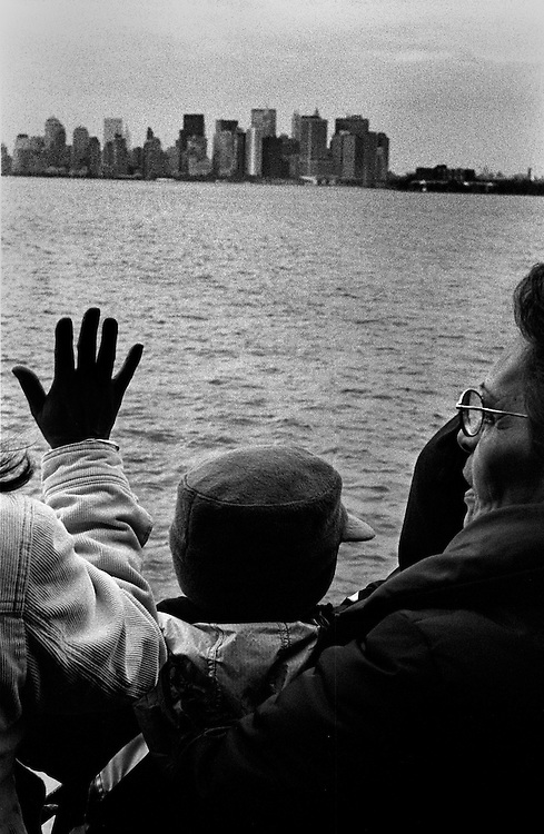 "Looking toward lower Manhattan from the Staten Island ferry...""I See A Darkness"" - Oct and Nov 2007..."
