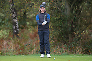 Tommy Fleetwood of England sizes up a drive during the British Masters 2018 at Walton Heath Golf Course, Walton On the Hill, Surrey on 14 October 2018. Picture by Martin Cole.