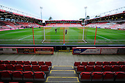 The Goldsands Stadium before the Barclays Premier League match between Bournemouth and Norwich City at the Goldsands Stadium, Bournemouth, England on 16 January 2016. Photo by Graham Hunt.