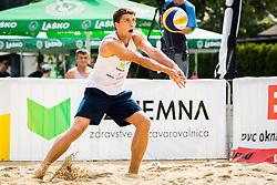Zlatko Pulko of SK Vienpi during Qlandia Beach Challenge 2015 and Beach Volleyball Slovenian National Championship 2015, on July 25, 2015 in Kranj, Slovenia. Photo by Ziga Zupan / Sportida