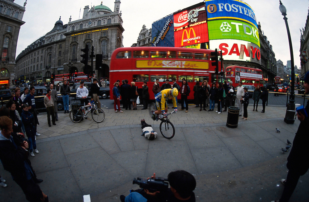 Hans 'no way' Rey riding in Scotland and central London, UK.