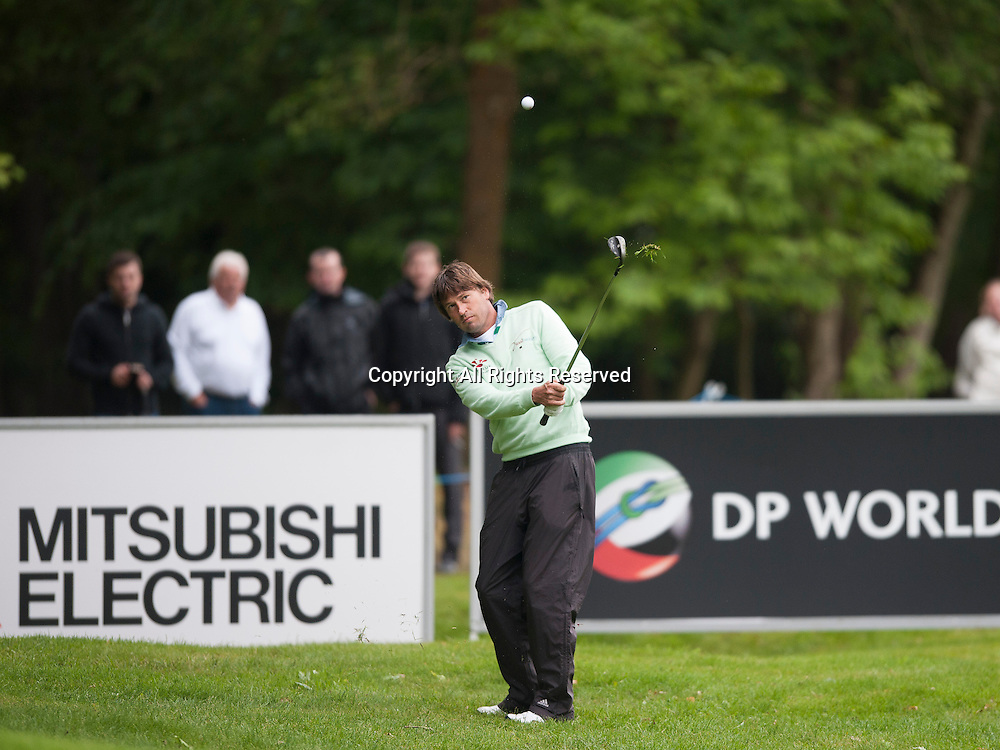 23.05.2014. Wentworth, England.  Robert-Jan DERKSEN [NED] during the second round of the 2014 BMW PGA Championship from The West Course Wentworth Golf Club