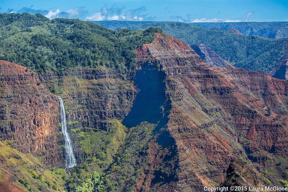 Waimea Canyon Waterfall, Island of Kauai, Hawaii, USA