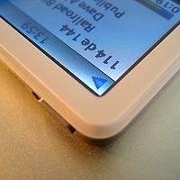 A macro shot of an ipod