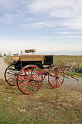 Nov 12, 2008; Millersburg, OH, USA; A & D Buggy Shop restores horse-drawn carriages and sleighs in the heart of amish country. Attention to detail and many hours of work go into each restoration. Photo by Bryan Rinnert/3Sight Photography