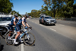 Tayler Wiles (USA) and her Trek Segafredo teammates make their way to the start line at Santos Women's Tour Down Under 2019 - Stage 4, a 42.5 km road race in Adelaide, Australia on January 13, 2019. Photo by Sean Robinson/velofocus.com
