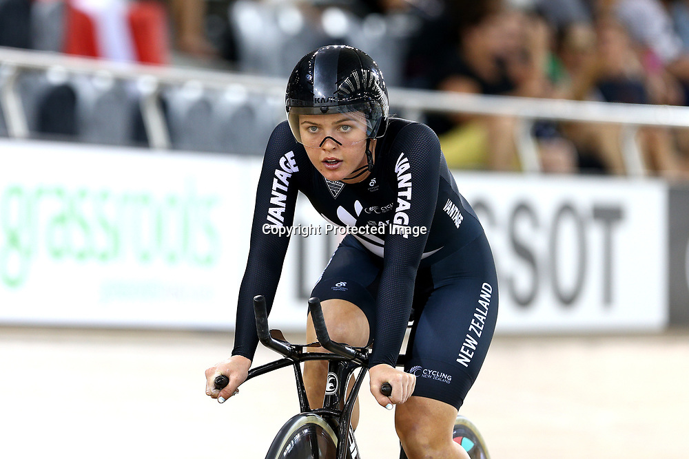 Michael Drummond during the UCI Track Cycling World Cup on January 18, 2019 in Cambridge New Zealand. (Photo by Dianne Manson)