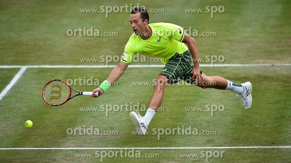 10.06.2015, Tennis Club Weissenhof, Stuttgart, GER, ATP Tour, Mercedes Cup Stuttgart, im Bild PHilipp Kohlschreiber (GER) Aktion // during the Mercedes Cup of ATP world Tour at the Tennis Club Weissenhof in Stuttgart, Germany on 2015/06/10. EXPA Pictures &copy; 2015, PhotoCredit: EXPA/ Eibner-Pressefoto/ Weber<br /> <br /> *****ATTENTION - OUT of GER*****