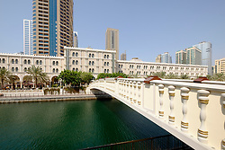 View of Al Qasba entertainment district in Sharjah United Arab Emirates