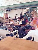 Actress Gwyneth Paltrow pictured at La Super-Rica taqueria