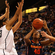 Kayla Alexander, Syracuse, in action during the Connecticut V Syracuse Semi Final match during the Big East Conference, 2013 Women's Basketball Championships at the XL Center, Hartford, Connecticut, USA. 11th March. Photo Tim Clayton