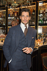 DAVID GANDY at a cocktail reception hosted by the Woolmark Company, Pierre Lagrange and the Savile Row Bespoke Association to celebrate 'The Ambassador's Project' for London Collections Mens at Marks Club, Charles street, London on 8th January 2016.