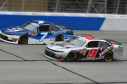February 23, 2019 - Hampton, GA, U.S. - HAMPTON, GA - FEBRUARY 23: Teammates Noah Gragson, JR Motorsports, Chevrolet Camaro Switch (9) and Justin Allgaier, JR Motorsports, Chevrolet Camaro Cessna (7) race side by side during the Xfinity Series  Rinnai 250 on February 23, 2019, at Atlanta Motor Speedway in Hampton, GA.(Photo by Jeffrey Vest/Icon Sportswire) (Credit Image: © Jeffrey Vest/Icon SMI via ZUMA Press)