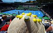 Fans enjoy centre court action during the Heineken Open New Zealand Quarter finals at the ASB Tennis Centre, Auckland, New Zealand. Thursday 10 January 2013. Photo: Chris Symes/www.photosport.co.nz