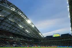General view of the Fisht Olympic Stadium during the match