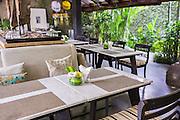 Eternal Restaurant at Ametis Villa in Canggu.  Bali, Indonesia.