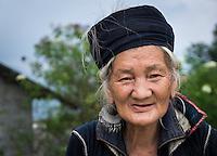 SAPA, VIETNAM - CIRCA SEPTEMBER 2014:  Portrait of woman from the Black Hmong minority in North Vietnam
