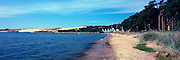 Panoramic View of the harbor at Nida, Lithuania