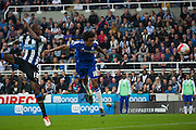 Chelsea FC Loic Remy gets the header on target but no goal during the Barclays Premier League match between Newcastle United and Chelsea at St. James's Park, Newcastle, England on 26 September 2015. Photo by Craig McAllister.