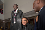 18069Mr. Manute Bol, Founder os the Ring Foundation, and former NBA player visting the Sports in Africa Annual Conference..Winsome Chunnu(glasses), Matt Kirwin(Beard),Timothy Addai Balag'kutu Adivilah(blue shirt far right)