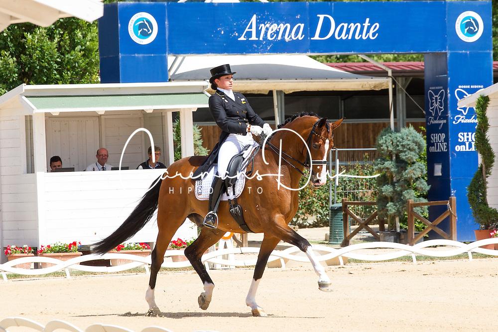 Klossinger Lisa-Maria (GER) - FBW Daktari<br /> European Championships Dressage Junior and Young Riders 2014<br /> &Acirc;&copy; Hippo Foto - Leanjo de Koster